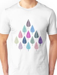 Watercolor Forest Pattern IIV Unisex T-Shirt