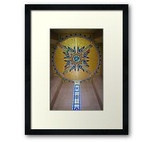 Luxembourg American Cemetery Memorial Ceiling Detail Framed Print
