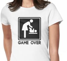 Game Over New Baby for Parent Mom Womens Fitted T-Shirt