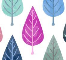 Watercolor Forest Pattern V Sticker