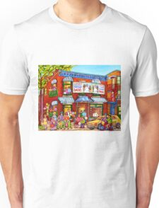 STREET PARTY FAIRMOUNT BAGEL MONTREAL STREET FAMILY FUN SUMMER STREET SCENE Unisex T-Shirt