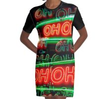 Oh-Oh (Black) Graphic T-Shirt Dress