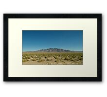 Middle of Nowhere, Nevada Framed Print
