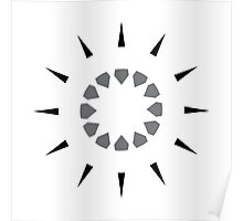 simple wall clock design: shooting arrows Poster