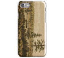 Vintage Pictorial Map of Victoria Vancouver (1860) iPhone Case/Skin