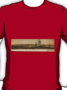 Vintage Pictorial Map of Victoria Vancouver (1860) T-Shirt