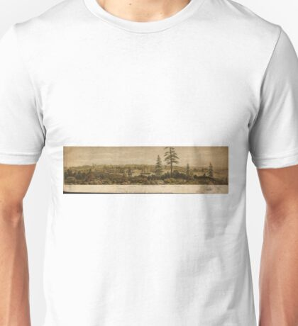 Vintage Pictorial Map of Victoria Vancouver (1860) Unisex T-Shirt