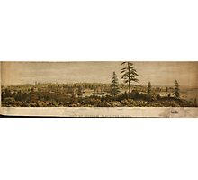 Vintage Pictorial Map of Victoria Vancouver (1860) Photographic Print