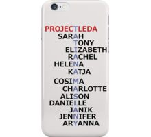 Orphan Black actress and character names (Season Two Spoilers) iPhone Case/Skin