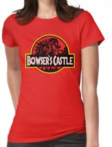 Bowser's Jurassic Castle Womens Fitted T-Shirt