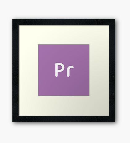Adobe Premiere CC Square Framed Print