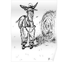 Donkey in a Hat Poster