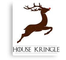House Kringle Santa Red Nosed Reindeer Sigil Canvas Print