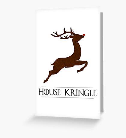 House Kringle Santa Red Nosed Reindeer Sigil Greeting Card