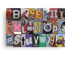 Las Vegas Sign Alphabet Canvas Print