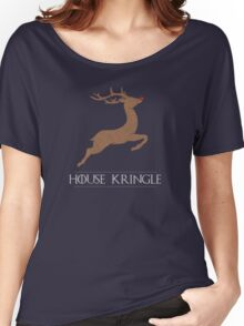 House Kringle Santa Red Nosed Reindeer Sigil Women's Relaxed Fit T-Shirt