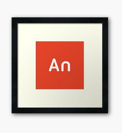 Adobe Animate CC Square Framed Print