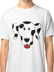 dalmatian cartoon head black Classic T-Shirt