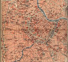 Vintage Map of Vienna Austria (1920) by BravuraMedia
