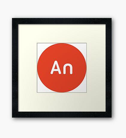 Adobe CC Animate Circles Framed Print