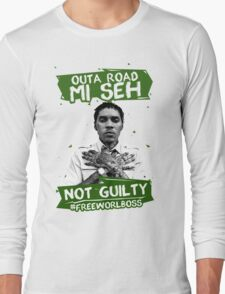 Out A Road #FREEWORLBOSS GREEN Long Sleeve T-Shirt
