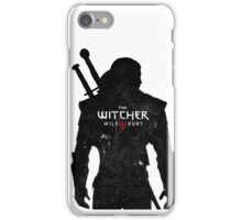 Geralt with Witcher Logo iPhone Case/Skin