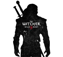 Geralt with Witcher Logo Photographic Print