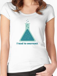 I Tend To Overreact Chemistry Science Beaker Women's Fitted Scoop T-Shirt