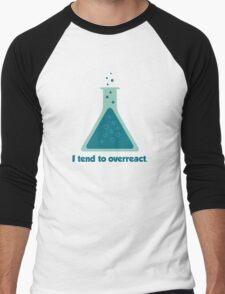 I Tend To Overreact Chemistry Science Beaker Men's Baseball ¾ T-Shirt