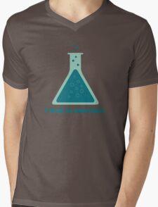 I Tend To Overreact Chemistry Science Beaker Mens V-Neck T-Shirt