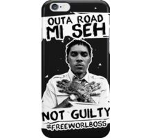 Out A Road #FREEWORLBOSS WHITE iPhone Case/Skin