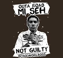 Out A Road #FREEWORLBOSS WHITE Unisex T-Shirt