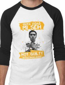 Out A Road #FREEWORLBOSS YELLOW Men's Baseball ¾ T-Shirt