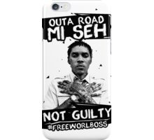 Out A Road #FREEWORLBOSS BLACK iPhone Case/Skin