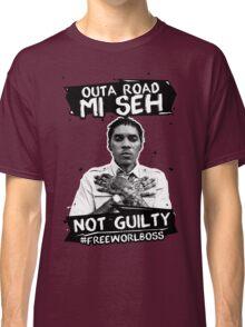 Out A Road #FREEWORLBOSS BLACK Classic T-Shirt