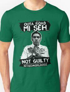 Out A Road #FREEWORLBOSS BLACK Unisex T-Shirt