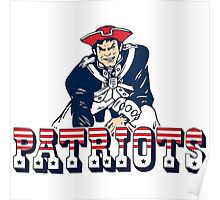 New England Patriot Old Poster