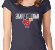 Sharp Cheddar Wis-Kid Women's Fitted Scoop T-Shirt