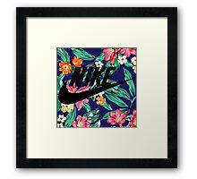 tropical nike Framed Print