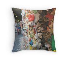 Seattle Gum Wall Corner Throw Pillow