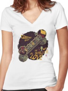 Mystery Science Theater 3000 (MST3K) Women's Fitted V-Neck T-Shirt