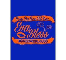 EVA BLESS #FREEWORLBOSS ORANGE Photographic Print
