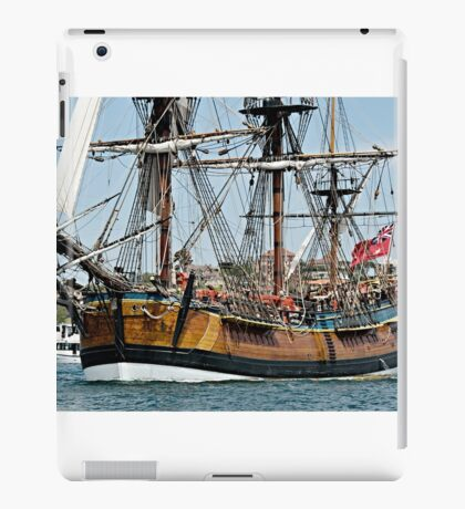 Tall Ship, Bark Endeavour. iPad Case/Skin