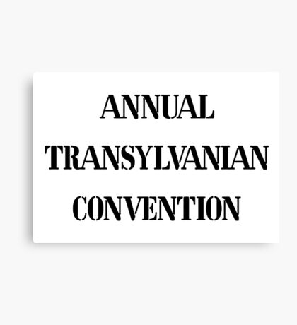 Annual Transylvanian Convention 1 Canvas Print