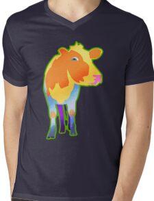 Cosmic Cow Mens V-Neck T-Shirt