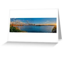 Panoramic of Harbour bridge and city, Sydney Australia Greeting Card