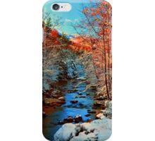 AUTUMN SNOW,LITTLE RIVER iPhone Case/Skin