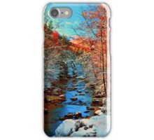 AUTUMN SNOW,LITTLE RIVER iPhone Case/Skin