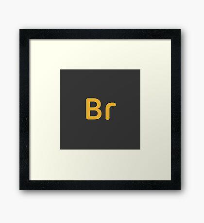 Adobe Bridge CC Letters Dark Framed Print