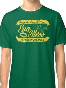 EVA BLESS #FREEWORLBOSS YELLOW Classic T-Shirt